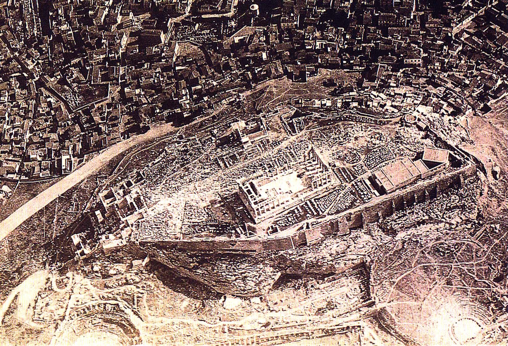Η Ακρόπολη της Αθήνας | Αεροφωτογραφία του 1917