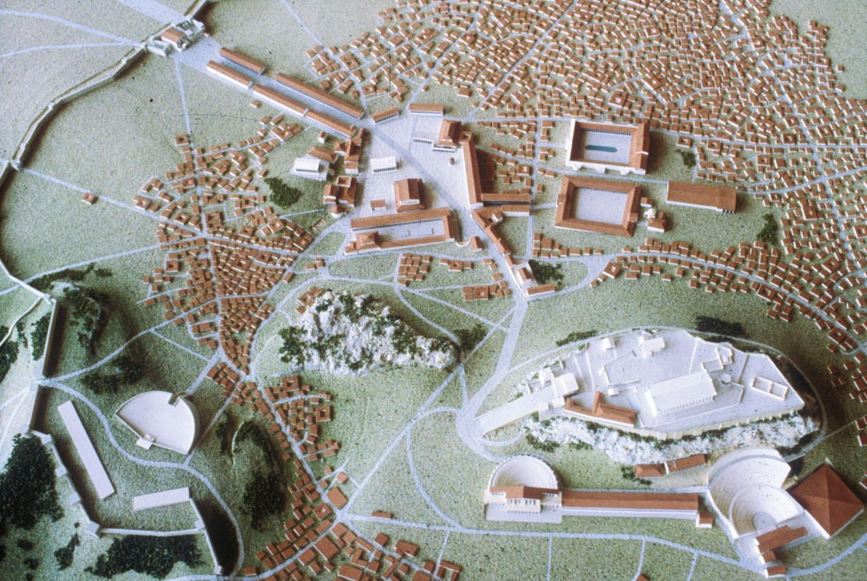Ακρόπολη και γενική άποψη της Αθήνας - 3ος αι. μ.Χ. Μακέτα