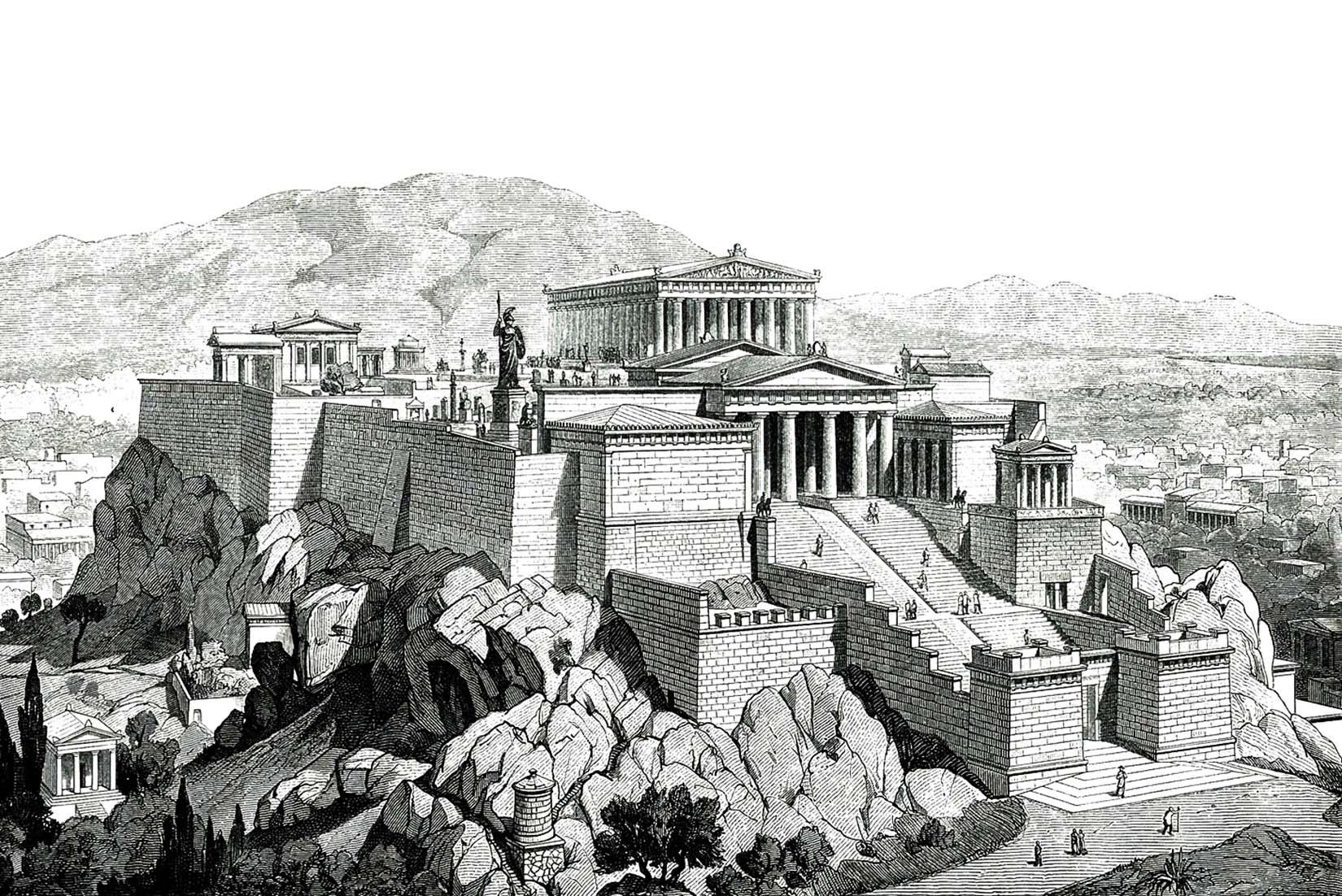 Η Ακρόπολη της Αθήνας, όπως ήταν στην αρχαιότητα | Falke Jacob Von-1887